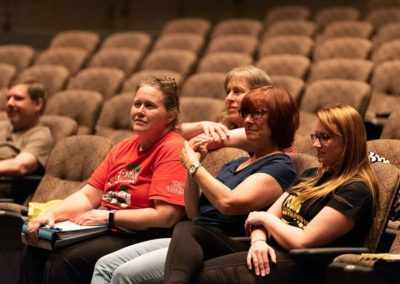 Freaky Friday Production Team Members watch dress rehearsal